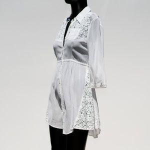 Free People White Midi Boho Festival Dress